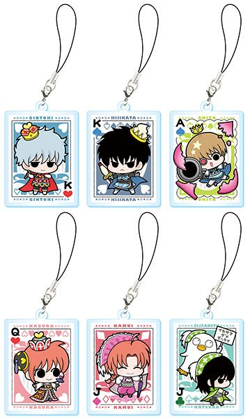 Gintama - Ginsans Cards Acrylic W Strap - Single BLIND BOX