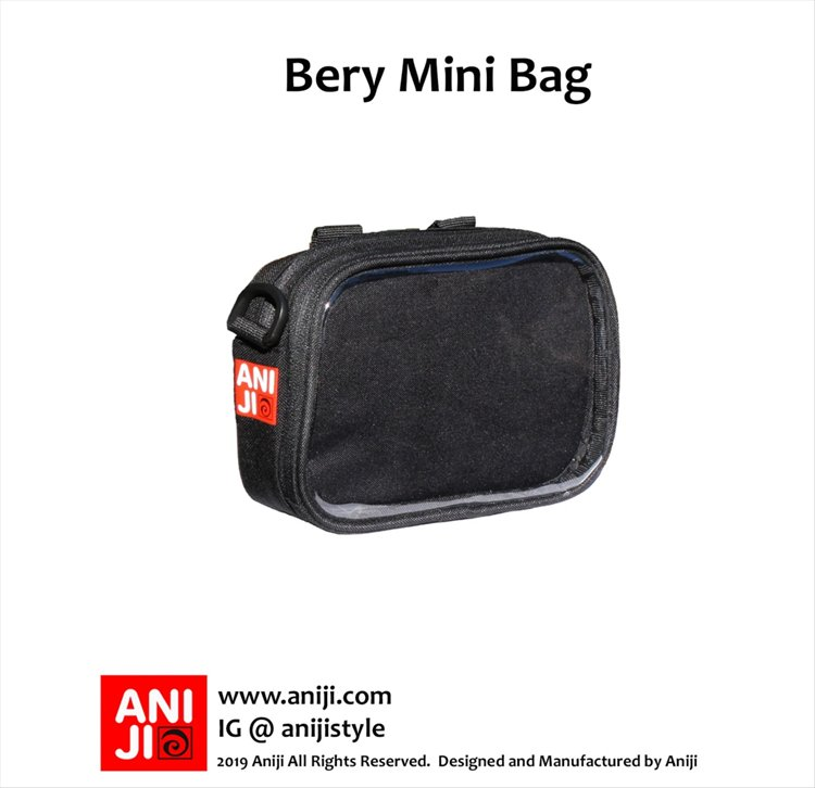 Aniji Bags - Bery Black Messenger Bag