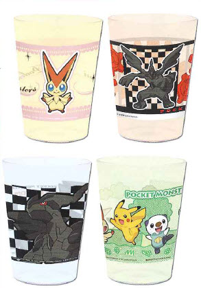 Pokemon - Movie Ver Set of 4 Plastic Cup A