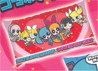 Vocaloid - Hatsune Miku x Powerpuff Girls Pillow A