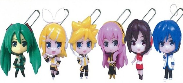 Vocaloid - Hatsune Miku Project Diva F Mascot Figure Keychains Dai 1 Set of 6