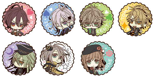 Amnesia - Character Trading Rubber Magnet Set of 10