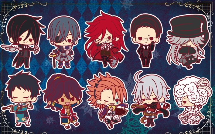 Black Butler - Book of Circus Rubber Charm Collection Set of 10