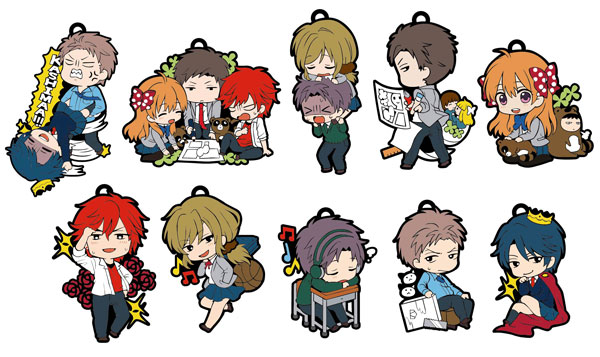 Gekkan Shoujo Nozaki-kun- Toys Works Collection Niitengomu Character Straps set of 10
