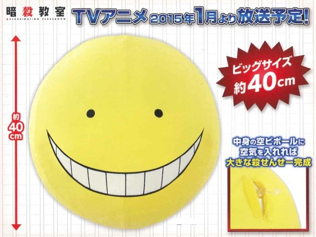 Assassination Classroom- Kuro Sensei Beach Ball
