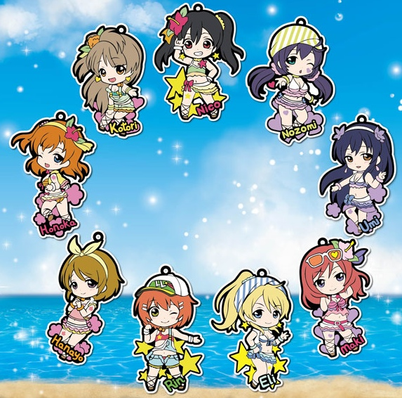 Love Live- Character Rubber Straps set of 9