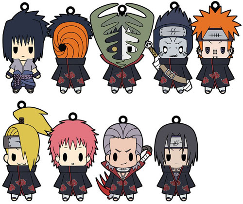Naruto Shippuden- Character Rubber Straps Volume 2 Set of 10