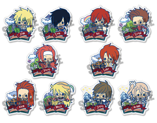 Tales of Friends- Clear Brooch Collection Volume 2 Set of 10