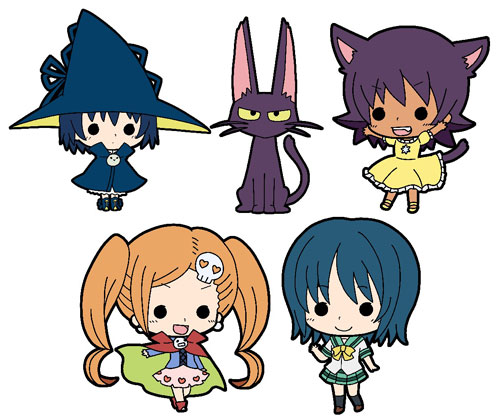 Magimoji Rurumo- Tiny Rubber Straps Set of 5