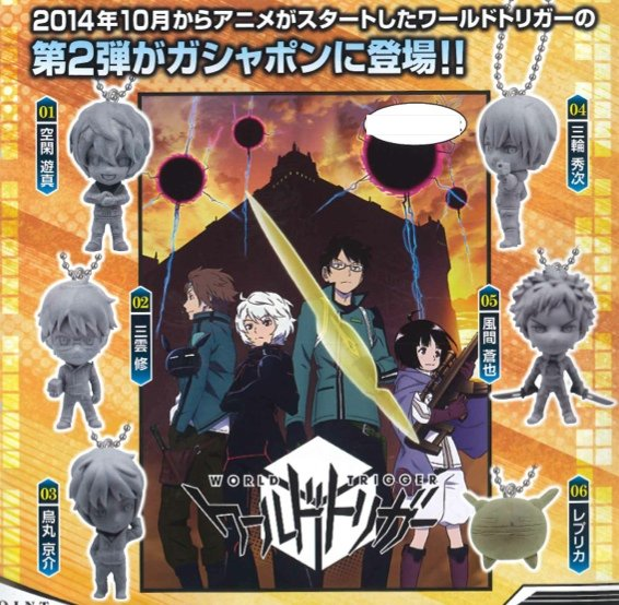 World Trigger- Character Swing Charms Set of 6