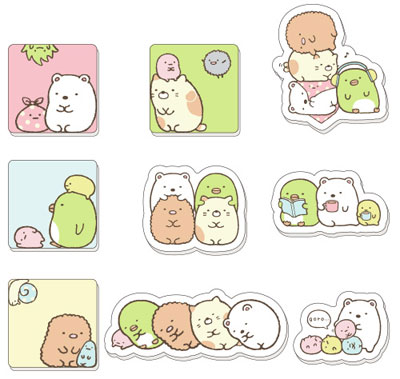 Sumikko Gurashi- FuwaFuwa Sticker- Single BLIND BOX