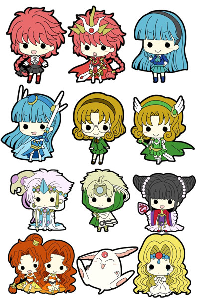 Magic Knight Rayearth- Tiny Rubber Straps- Single BLIND BOX