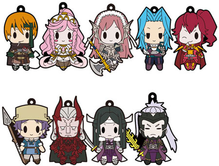 Fire Emblem Awakening- Rubber Keychain All Unit Collection Volume 5- Single BLIND BOX