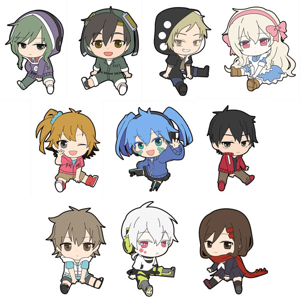Mekakucity Actors- Petanko Trading Rubber Strap- Single BLIND BOX