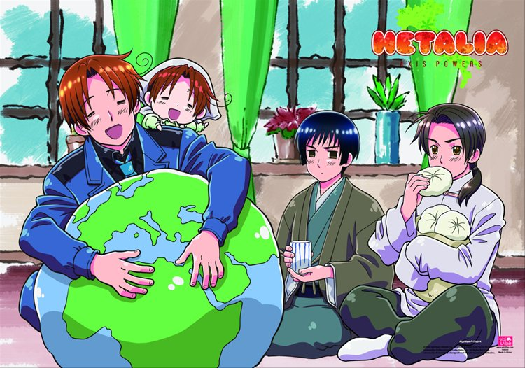 Hetalia- Group C Wall Scroll