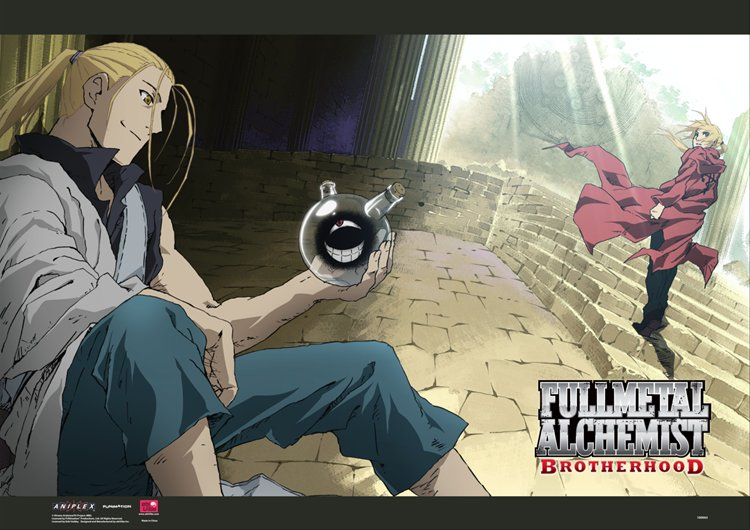 Fullmetal Alchemist- The Dwarf in the Flask Wall Scroll