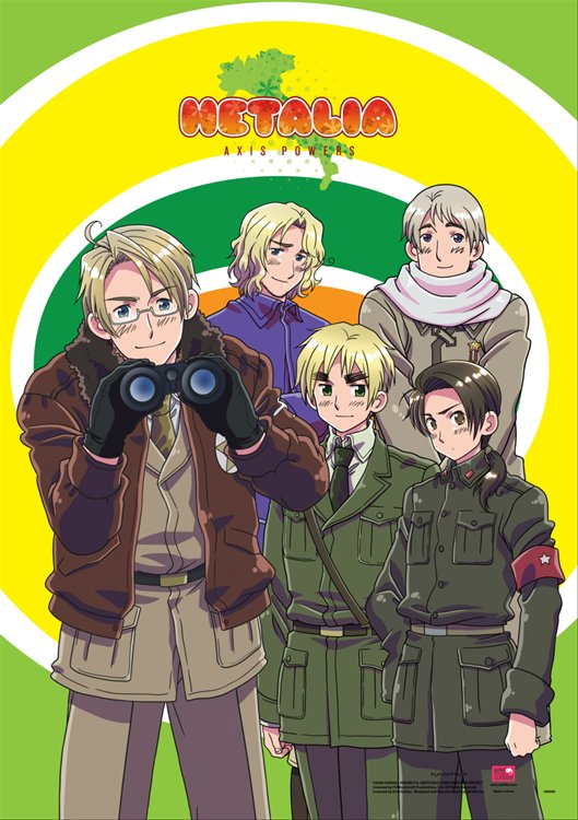 Hetalia- Group F Wall Scroll
