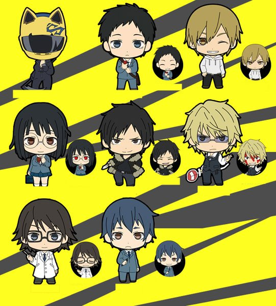 Durarara x2 - Picktam Trading Rubber Straps - Single BLIND BOX