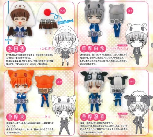 Fruits Basket - Cosplay Character Swing Charms Set of 4