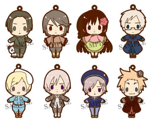 Hetalia - Part 2 Renewal Version es series nino Rubber Strap Collection - Single BLIND BOX