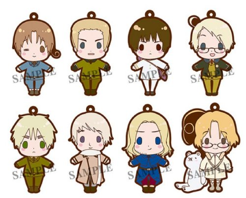 Hetalia - Renewal Version es series nino Rubber Strap Collection - Single BLIND BOX