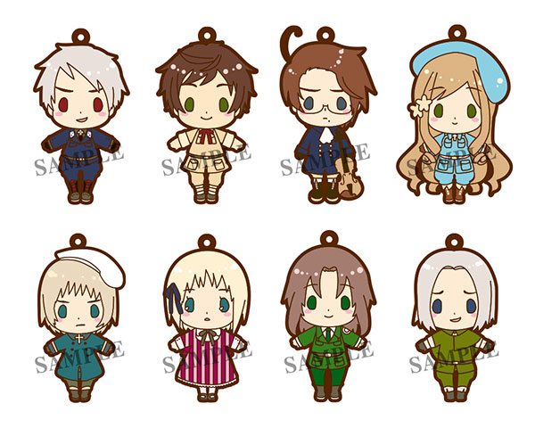 Hetalia - Part 3 Renewal Version es Series nino Rubber Strap Collection - Single BLIND BOX