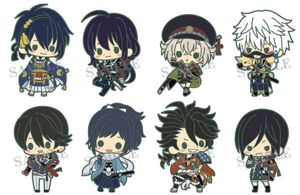 Touken Ranbu - Unit 1 es Series nino Rubber Strap Collection - Single BLIND BOX