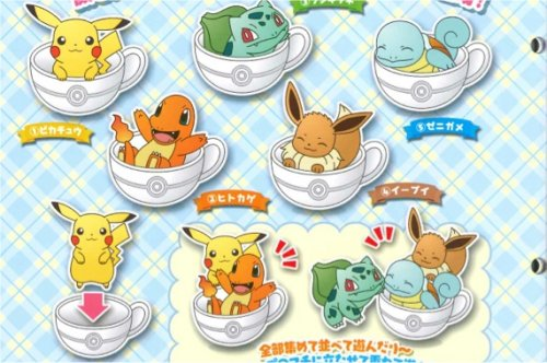 Pokemon XY and Z - Cup Pokemon Straps Set of 5
