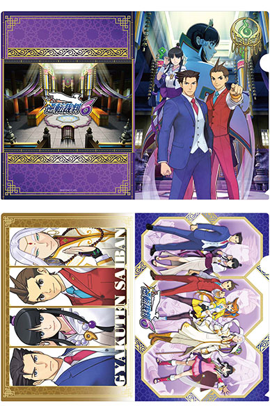 Ace Attorney 6 - Characters Clear file A4 set of 2