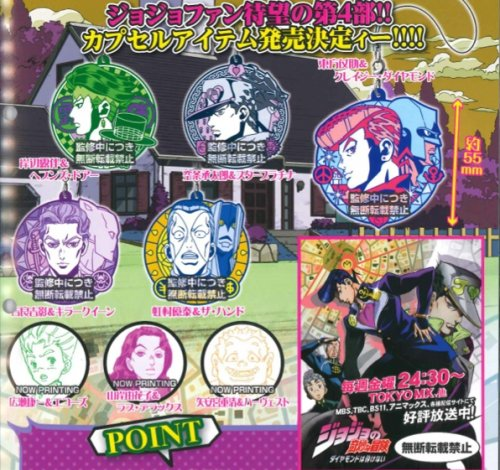 JoJos Bizarre Adventure - Character Badge Straps