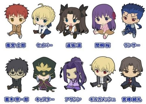 Fate Stay Night Unlimited Blade Works -Petanko Rubber Straps Vol.2 Single BLIND BOX