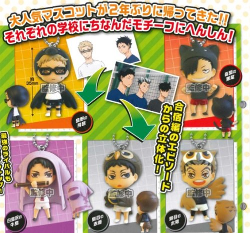 Haikyuu - Mascot Swing Charms Set of 5