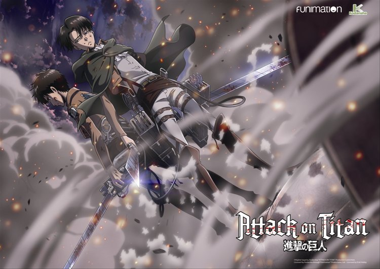 Attack on Titan - Erin and Levi Clear PVC Poster A2 Size