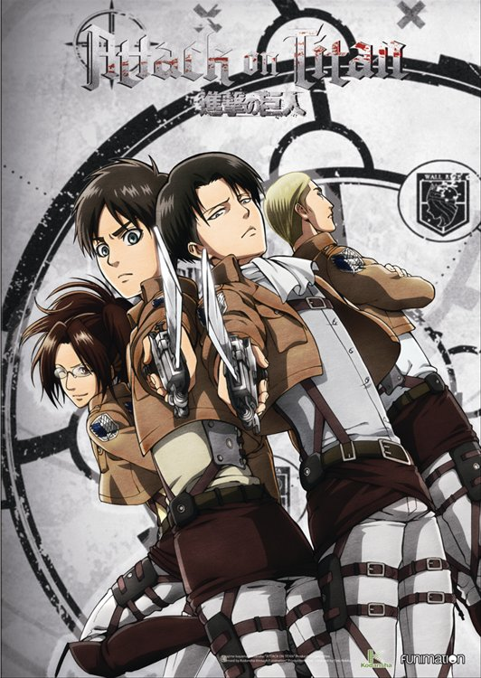 Attack on Titan - Erin, Levi, Hange, Erwin Clear PVC Poster