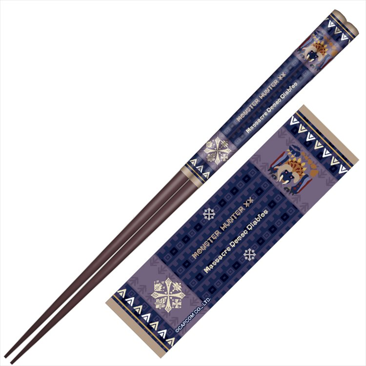 Monster Hunter XX - Japanese pattern chopsticks Massacre Demon Diablos