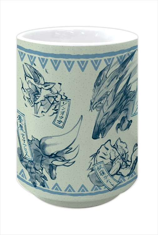 Monster Hunter XX - Japanese-design Japanese Teacup: Blue