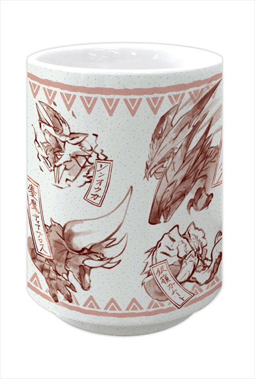 Monster Hunter XX - Japanese-design Japanese Teacup: Red