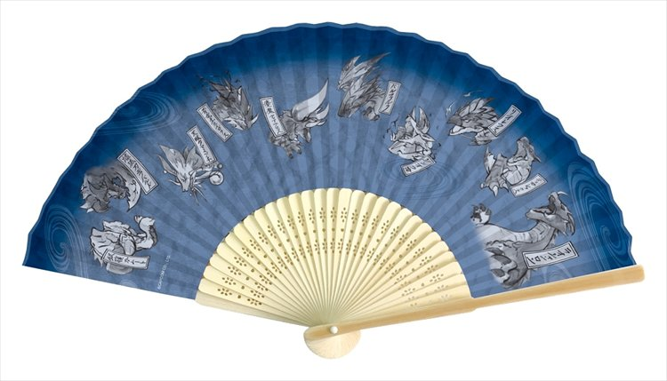 Monster Hunter XX - Japanese-design Folding Fan: Blue