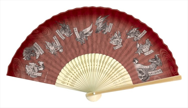 Monster Hunter XX - Japanese-design Folding Fan: Red