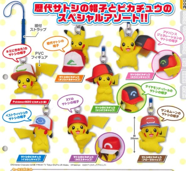 Pokemon Movie - 20th Anniversary Charm Set of 7