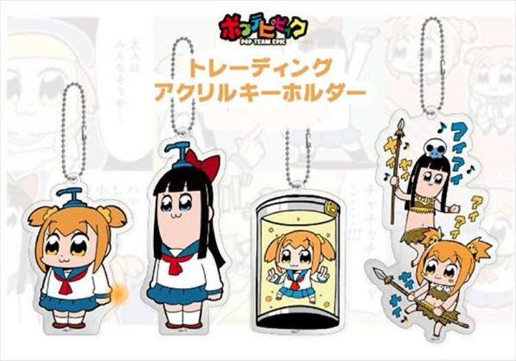 Pop Team Epic - Acrylic keychains Single BLIND BOX