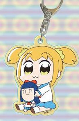 Pop Team Epic - Popuko w mini Pipime Keychain