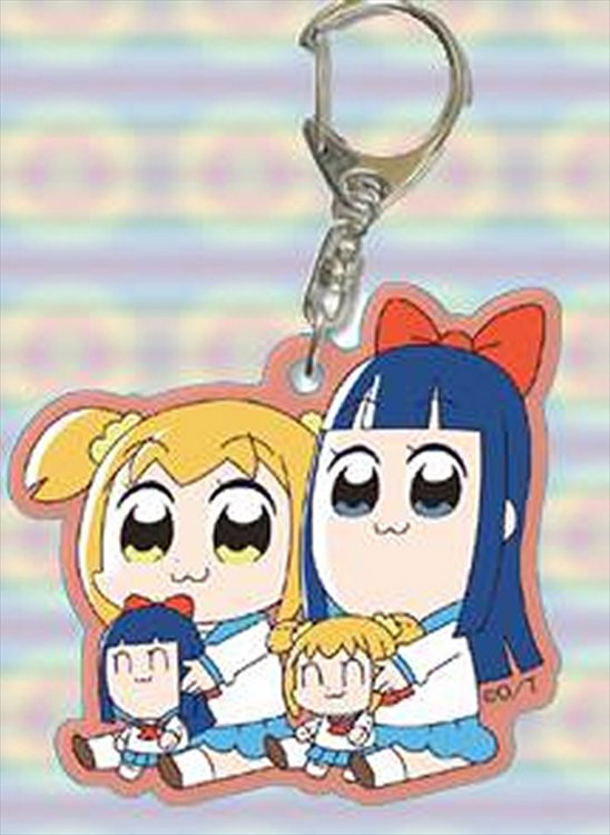 Pop Team Epic - Popuko and Pipime w mini ver. Keychain