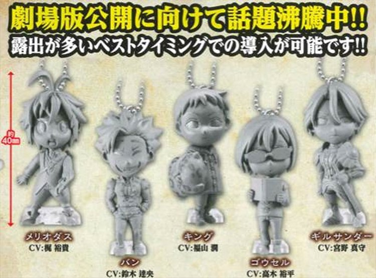 The Seven Deadly Sins - Character Swing Charms Set of 5
