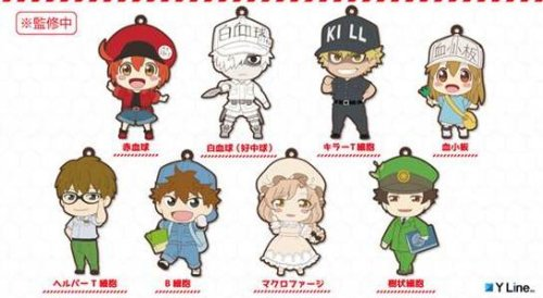 Cells at Work - Character Rubber Straps Single BLIND BOX