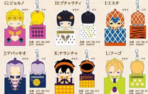 Jojo Bizarre Adventure Part V Golden Wind - Single Pouch Keychain