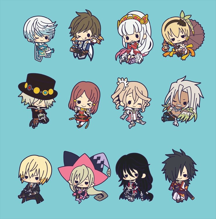 Tales of Berseria The X - Rubber Charm SINGLE BLIND BOX