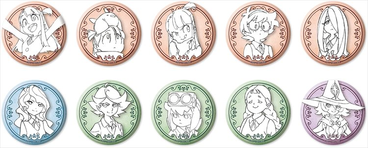 Little Witch Academia - Collectible Badges Single BLIND BOX