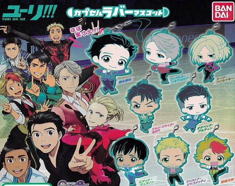 Yuri on Ice - Rubber Mascot Set of 8