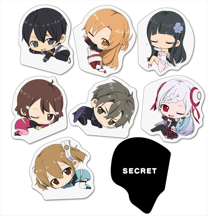 Sword Art Online The Movie : Ordinal Scales - Magnet clip Collection of GENCO Single BLIND BOX